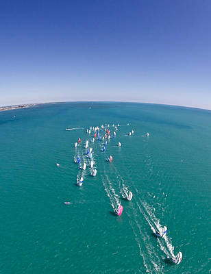Photograph - Key West Regatta Aerial by Steven Lapkin