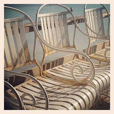 Decorative Photograph - Beach Bar Chairs by Dani Hoy