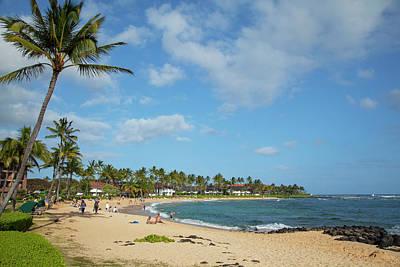 Poipu Photograph - Kiahuna Beach, Poipu, Kauai, Hawaii by Douglas Peebles