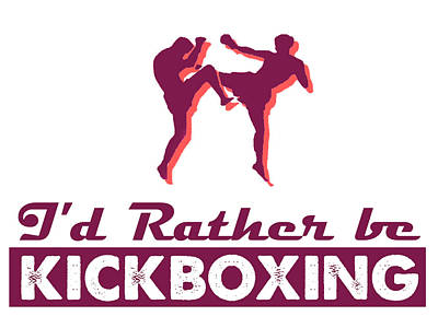 Popart Painting - Kick Boxer - Kickboxing by MotionAge Designs