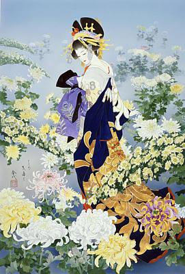 Purple Robe Painting - Kihaku by Haruyo Morita