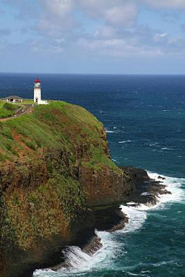 Kilauea Lighthouse Located On Kilauea Art Print