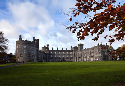 Battlements Photograph - Kilkenny Castle - Rebuilt In The 19th by Panoramic Images