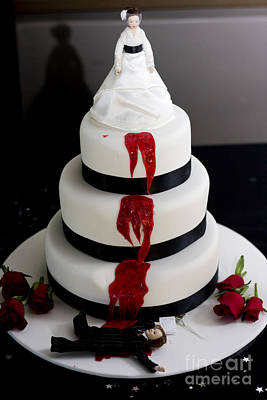 Killer Bride Wedding Cake Art Print by Jorgo Photography - Wall Art Gallery
