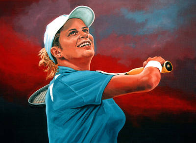 Tennis Painting - Kim Clijsters by Paul Meijering