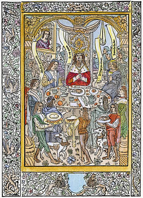 Knight of the round table paintings fine art america knight of the round table painting king arthur knights by granger watchthetrailerfo