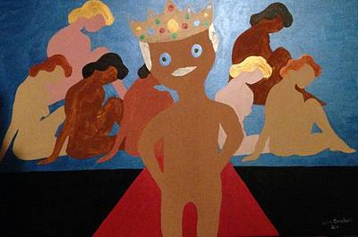 Painting - King by Erika Chamberlin