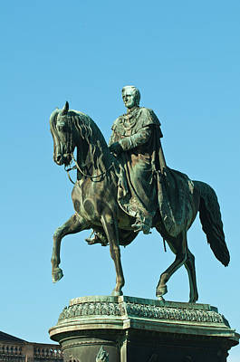 Dresden Wall Art - Photograph - King John Statue In Theatre Square by Michael Defreitas