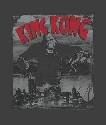 Gorilla Digital Art - King Kong - City Poster by Brand A