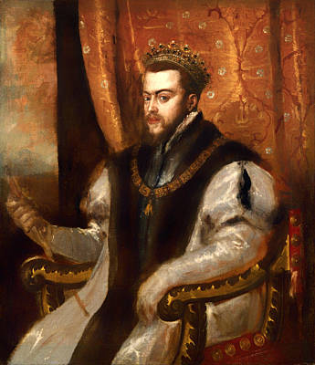 Sepulcher Painting - King Philip II Of Spain by Mountain Dreams