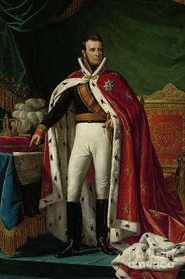 King Painting - King William I Of The Netherlands In Coronation Robes by Celestial Images