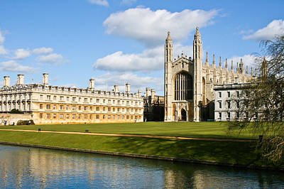 River Scenes Photograph - Kings College Cambridge by Tom Gowanlock
