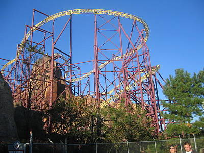 Kings Dominion - Volcano - 12123 Print by DC Photographer