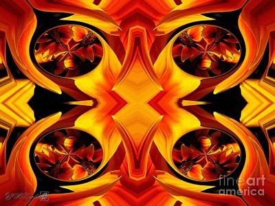 Painting - Kiss Orange Flame Abstract by J McCombie