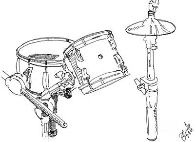 Neil Peart Drawing - Kit Angle I by Andrew Cravello