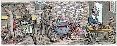 Cauldron Painting - Kitchen, 1518 by Granger