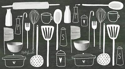Ladle Painting - Kitchen Utensils by Katie Doucette