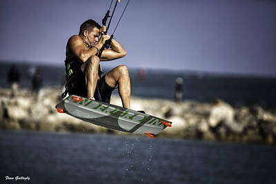 Photograph - Kite Surfer by Fran Gallogly