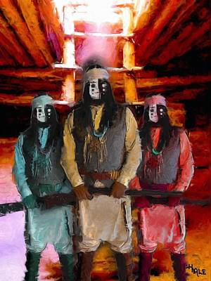 Painting - Kiva Men by Roger D Hale