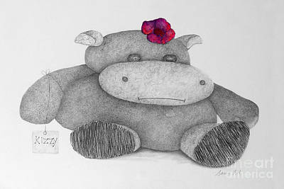 Hippopotamus Mixed Media - Kizzy Hippo by Joanne Clark