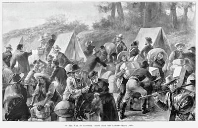 Alaska Drawing - Klondike Gold Rush, 1898 by Granger