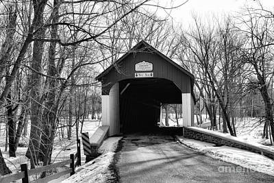 Old Country Roads Photograph - Knechts Covered Bridge by Paul Ward