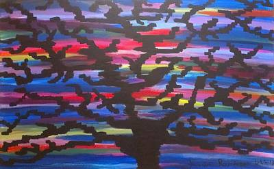 Multicolored Painting - Knowledgeable Origin Tree Silhouette by Kevin  Ramlogan