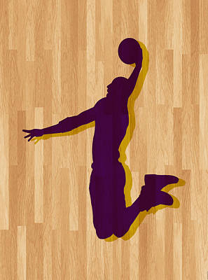 Kobe Bryant Los Angeles Lakers Art Print