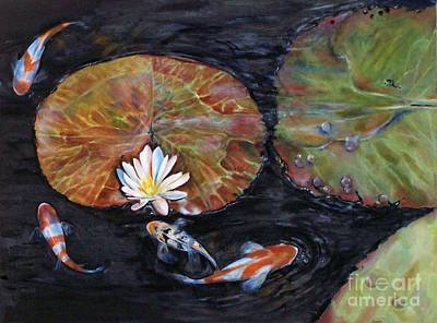 Painting - Koi Pond II by Laneea Tolley