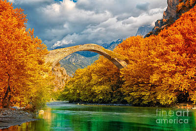 River Scenes Photograph - Konitsa Bridge by Gabriela Insuratelu