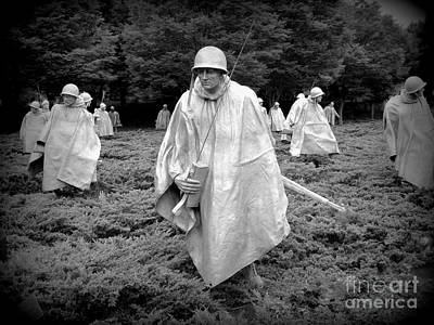 Photograph - Korean War Veterans Memorial by Allen Beatty