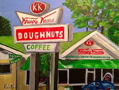 Doughnuts Painting - Krispy Kreme 5 by Kimberly Balentine