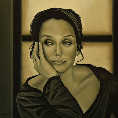 English Horse Painting - Kristin Scott Thomas by Paul Meijering