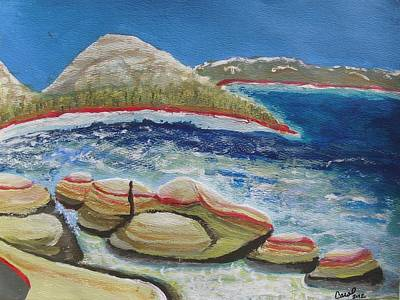 Painting - Kudos To Kondos At The Lake by Carol Duarte
