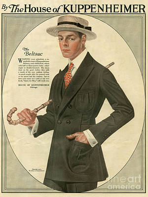Nineteen-tens Drawing - Kuppenheimer  1910 1910s Usa by The Advertising Archives