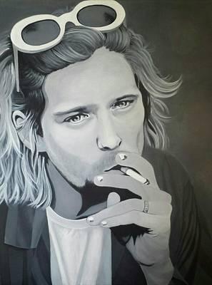 Kurt Cobain Painting - Kurt Cobain by Amanda DeVillers