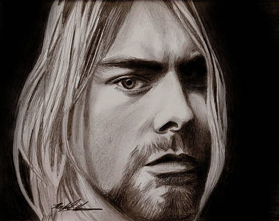 Drawing - Kurt Cobain by Michael Mestas