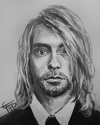 Kurt Cobain Painting - Kurt Cobain by Tom Carlton