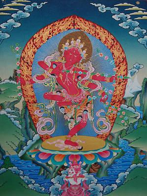 Vajrayana Painting - Kurukulla by Binod Art School