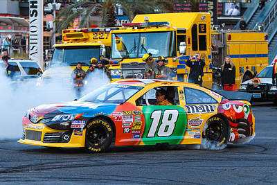 Jmp Photograph - Kyle Busch by James Marvin Phelps