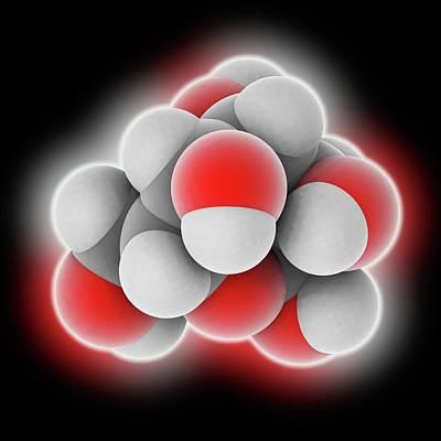 L-glucose Molecule Art Print by Laguna Design