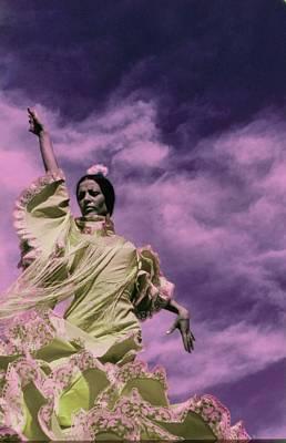 Photograph - La Contrahecha Wearing A Ruffled Dress by Raymundo de Larrain