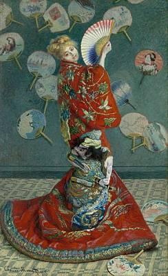 Boston Painting - La Japonaise by Claude Monet