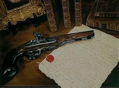 La Lettre Art Print by Guillaume Bruno