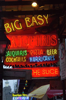 Bourbon Street Photograph - La, New Orleans, French Quarter, Neon by Jamie and Judy Wild