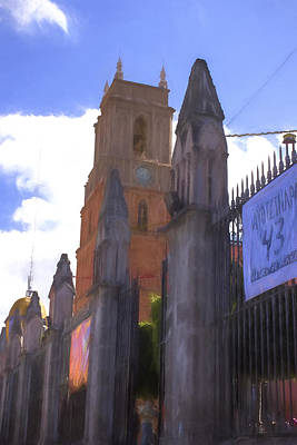 Micheal Digital Art - La Parroquia  Of St. Micheal The Archangel San Miguel De Allende by Cathy Anderson
