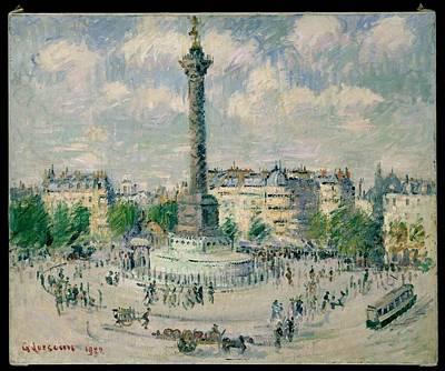 La Place De La Bastille Art Print by Gustave Loiseau