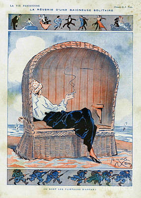 Nineteen-tens Drawing - La Vie Parisienne  1915 1910s France Cc by The Advertising Archives