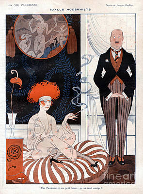 Nineteen-tens Drawing - La Vie Parisienne 1920s France Glamour by The Advertising Archives