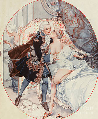 Prostitution Drawing - La Vie Parisienne 1926 1920s France by The Advertising Archives